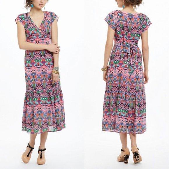 Anthropologie Dresses & Skirts - Anthro Vanessa Virginia Mural Chiffon Dress